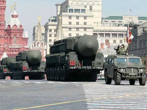 Military arsenal: Russia's deadly Topol-M ICBM.
